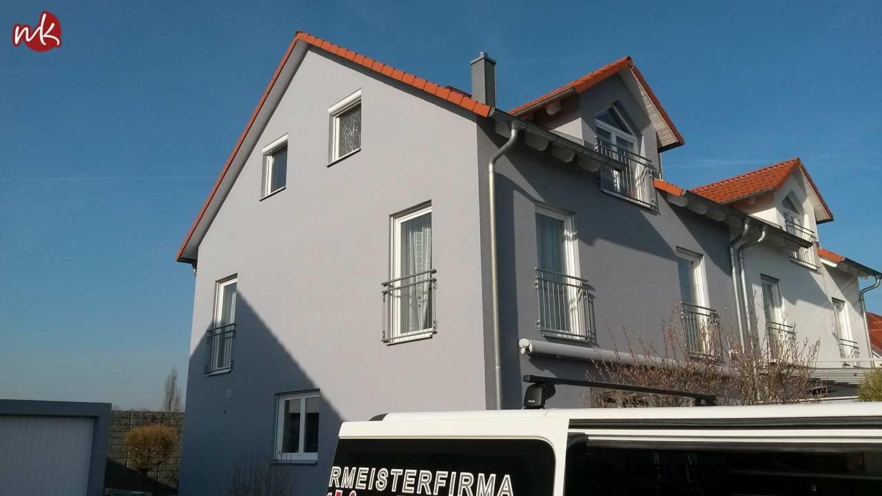 Fassade In Grau Streichen Malermeister Kolling