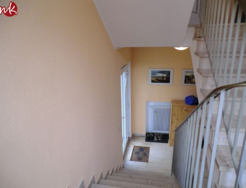 Treppenhäuser in Orange streichen