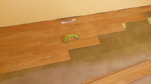 Planken einkleben