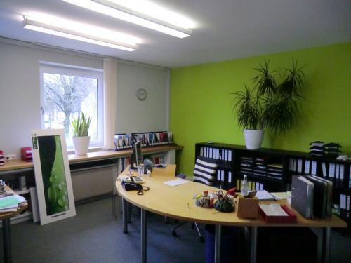 Fertige Wandflächen, Büro