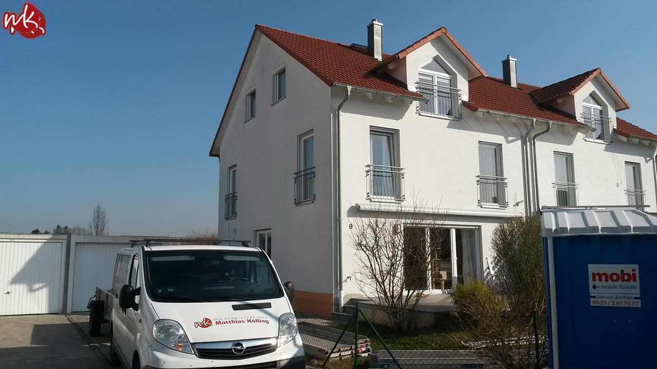 Fassade in Grau streichen - Malermeister Kölling
